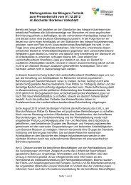 Stellungnahme der Büngern-Technik zum Pressebericht vom 01.12 ...