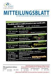 Shitparade - Stadt Freystadt
