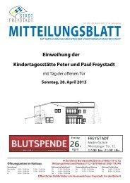 Mitteilungsblat 08-2013.indd - Stadt Freystadt