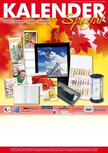 Kalender für 2013 - bueromaterialien.net GmbH