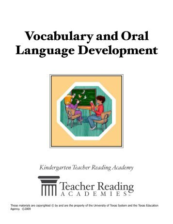 Vocabulary and Oral Language Development - Response to ...
