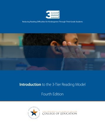 Introduction to the 3-Tier Reading Model - Building RTI - The ...
