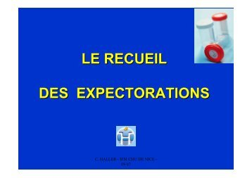LE RECUEIL DES EXPECTORATIONS mod