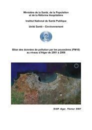 Bilan des données de pollution par les poussières (PM10)