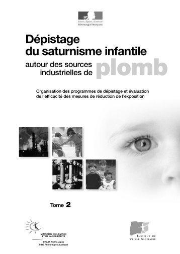 Dépistage du saturnisme infantile - Institut de veille sanitaire