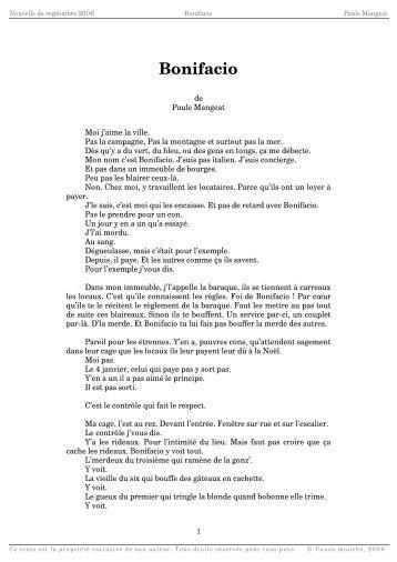 Bonifacio - Cousu Mouche