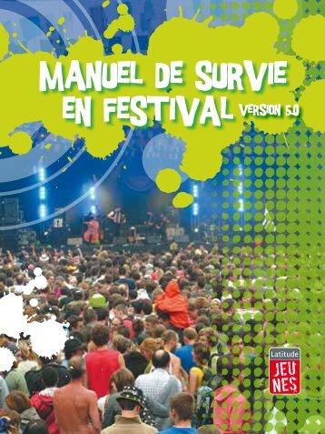 `manuel de survie en festival - Latitude Jeunes