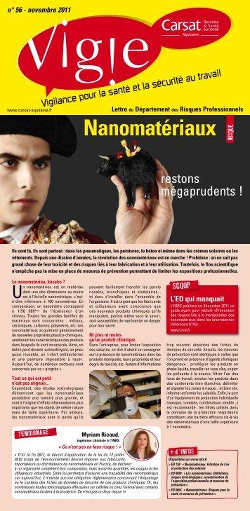 Vigie n°56 - Entreprises - CARSAT Aquitaine