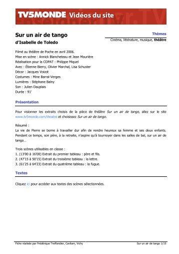 """Télécharger la fiche pédagogique """"Sur un air de tango"""" (pdf)"""