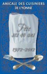 restaurant - Amicale des cuisiniers de l'Yonne