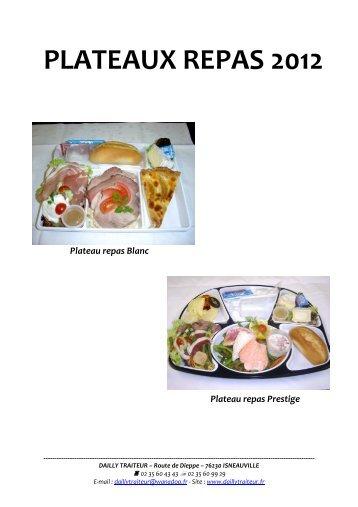PLATEAUX REPAS 2012 - DAILLY Traiteur