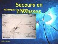 Secours en crevasse - Association Nationale des Médecins du ...