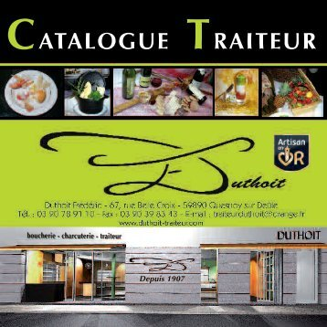 DUTHOIT TRAITEUR traiteur catalogue 2010 -2011 - Boutique ...