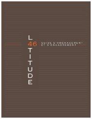 Cahier des charges concernant le développement ... - Latitude 46