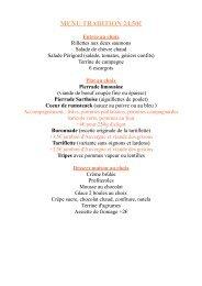 Télécharger la carte des menus - Buron Restaurant