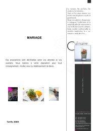 MARIAGE - Hazelaere Traiteur