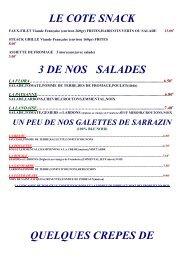 Découvrez notre menu - CREPERIE la Fleur de sel à Luçon