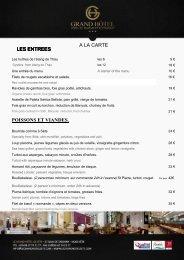 Voir le Menu de la saint Valentin - Le Grand Hôtel de Sète