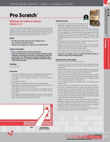 Pro Scratch™ - Adhésifs Proma inc.