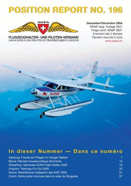 position report no. 196 - AOPA Switzerland