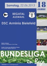 DSC Arminia Bielefeld - Bundesliga in Bega