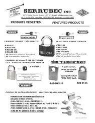 featured products - Serrubec Inc.