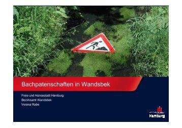 Bachpatenschaften, Verena Rabe, Bezirksamt ... - BUND Hamburg