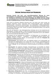 Projekt GRÜNE INFRASTRUKTUR HAMBURG ... - BUND Hamburg