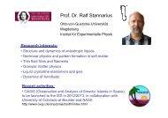 Prof. Dr. Ralf Stannarius