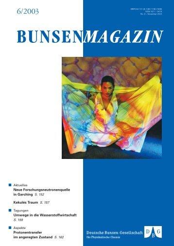 BuMa_2003_06 - Deutsche Bunsengesellschaft für Physikalische ...