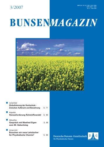 BuMa_2007_03 - Deutsche Bunsengesellschaft für Physikalische ...