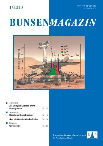BuMa_2010_01 - Deutsche Bunsengesellschaft für Physikalische ...