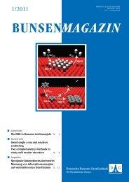 BuMa_2011_01 - Deutsche Bunsengesellschaft für Physikalische ...