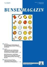BuMa_2005_05 - Deutsche Bunsengesellschaft für Physikalische ...