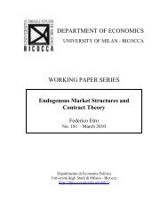 Endogenous Market Structures and Contract Theory - BOA Bicocca ...