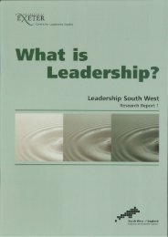 What is Leadership? - The Business School - University of Exeter