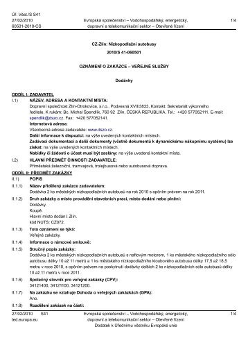 Supply contract - Contract notice - 060501-2010 - CS