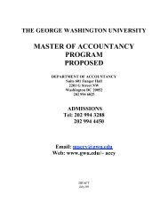 master of accountancy program proposed - School of Business - The ...