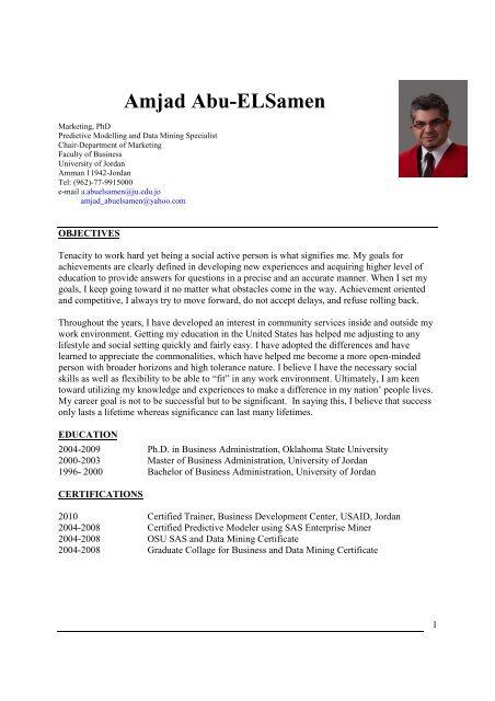 Amjad Abu-ELSamen - Faculty of Business - The University of