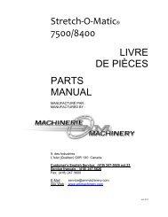 Stretch-O-Matic® 7500/8400 LIVRE DE PIÈCES PARTS MANUAL