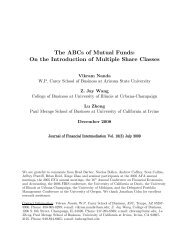 The ABCs of Mutual Funds - College of Business at Illinois ...