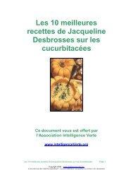 Les 10 meilleures recettes de Jacqueline ... - Intelligence Verte