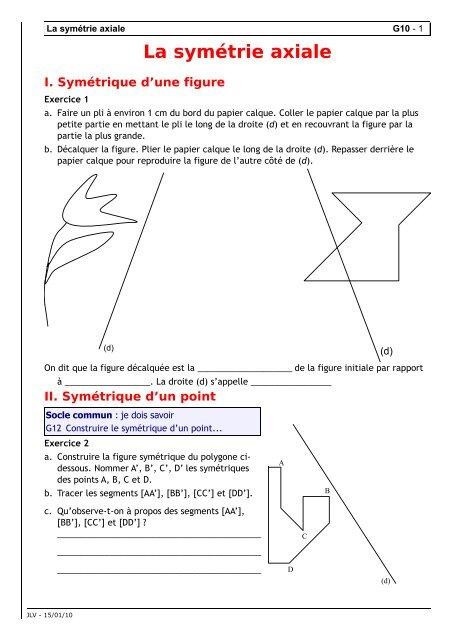 La symétrie axiale 088b1ded76ee