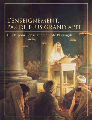 L'enseignement, pas de plus grand appel - Eglise de Jésus-Christ ...