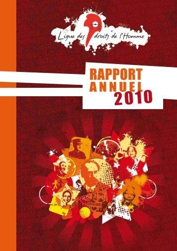 LDH : Rapport annuel 2010 - Ligue des droits de l'Homme