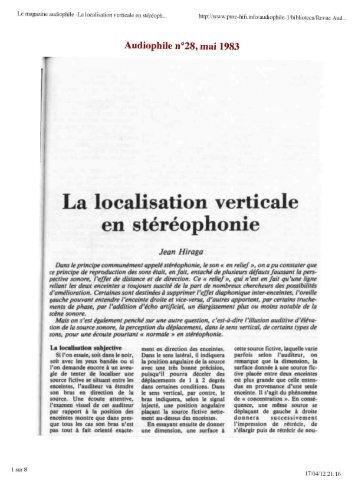 La localisation verticale en stéréophonie (J.Hiraga).pdf - pure-hifi