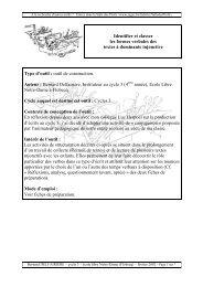 Identifier et classer les formes verbales des textes à ... - SeGEC