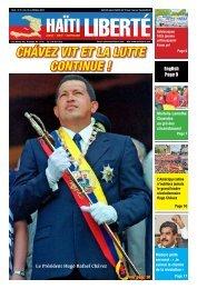Chávez vit et la lutte Continue ! - Haiti Liberte