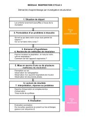 MODULE RESPIRATION CYCLE 3 Démarche d ... - Point sciences 87