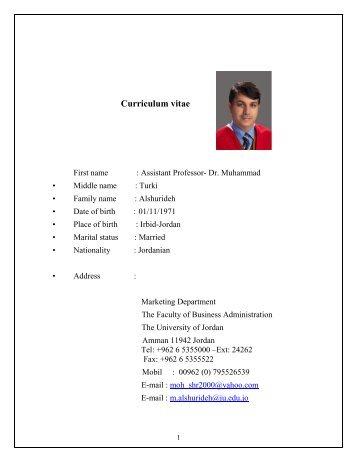 CV for Dr. Muhammad Turki Alshurideh.pdf - Faculty of Business ...